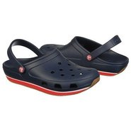 Crocs Retro Clog Shoes (Navy/Red) - Men's Shoes -