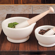 Porcelain Mortar and Pestle - 6 1/2