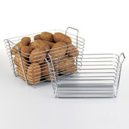 Chrome Wire Storage Basket - Medium - Set of 2
