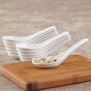 Porcelain Chinese Soup Spoons, Set of 12 - Set of