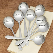 Stainless Steel Soup Spoons - Set of 8