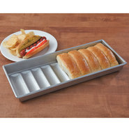 USA Pan Nonstick New England Hot Dog Bun Pan