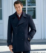 Executive Wool Peacoat Big and Tall Sizes JoS. A.