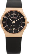 Black Leather Mens Watch - 233XXLRLB