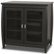 Black 30   Wide Tall Boy TV Stand - SWD30B