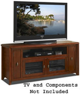 Walnut 64   Wide Hi-Boy Credenza Tv Stand - AWC642