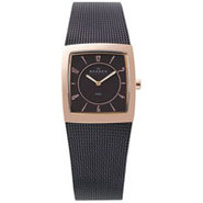 Brown and Rose Gold Square Womens Watch - 563XSRM
