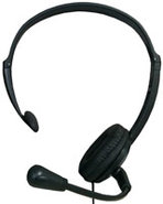 Hands-Free Black Headset - KX-TCA400