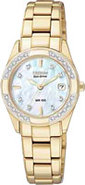 Eco-Drive Regent Gold-Tone Diamond Womens Watch -