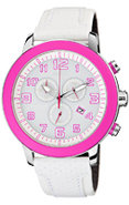 Eco-Drive BRT White & Pink Stainless Steel Mens Wa