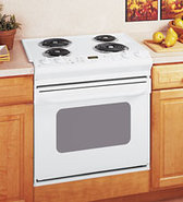 30   White Drop-In Electric Range - JDS28DNWW