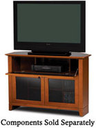 Novia Corner Series Cherry TV Stand - NOVIA8421