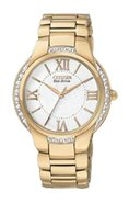 Eco-Drive Ciena Womens Stainless Steel Rose Gold-T