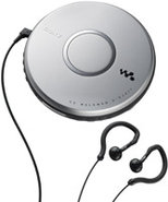 Silver CD Walkman Portable Compact Disc Player - D
