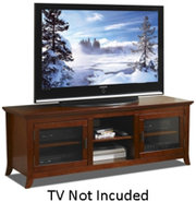 Walnut 62   Wide Credenza TV Stand - PAL62