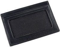 Alpha Stripe Black Slim Card Case ID - 19659D