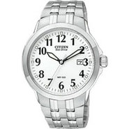 Eco-Drive Bracelet White Dial Men &#39;s Watch - BM709