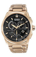 Eco-Drive Rose Gold Signature Collection Chronogra