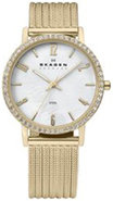 Gold And White Mother Of Pearl Womens Watch - 922S