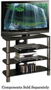 Sorrento Series Black TV Stand - BEL320B
