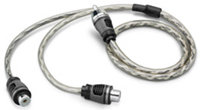 Twisted Pair Audio Y-Adapter Cable - XD-CLRAICY-1M