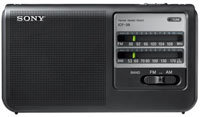 Black Portable AM-FM Radio - ICF-38