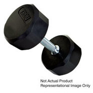25lb 12 Sided Rubber Encased Dumbbell - TSD-025R