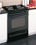 30   Black Slide-In Electric Range - JSS28DNBB