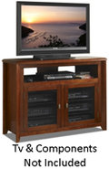 Walnut 50   Wide Hi Boy Credenza TV Stand - AWC503