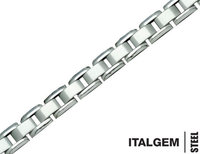 Mens 9 Inch Bracelet in Stainless Steel