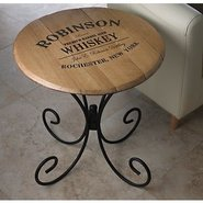 Authentic Barrel Head End Table With Personalized