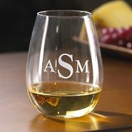 Monogrammed Wine Enthusiast U Chardonnay Stemless 