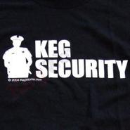 Keg Security T-Shirt - Black
