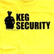 Keg Security T-Shirt - Yellow