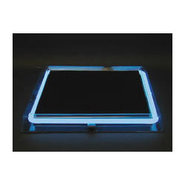 Neon Clear Acrylic Square Serving Tray - Disposabl