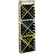 Traditional Redwood Open Diamond Wine Rack - Holds