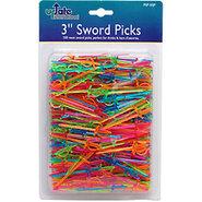 Plastic Neon Drink Sword Picks - Pack of 500
