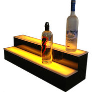 Two Step Lighted Liquor Bottle Display