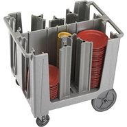 Cambro Adjustable Dish Caddy Cart - 6 Columns