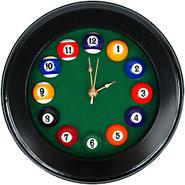 Billiards Circular Wooden Wall Clock