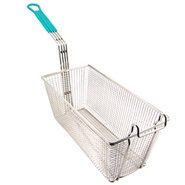 Deep Fryer Basket - Large - Green Handle