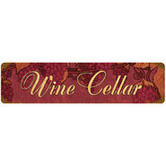 Vintage Wine Cellar Metal Sign