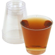 Disposable 2 oz. Clear Plastic Shot Cups