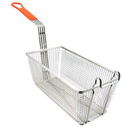 Deep Fryer Basket - Small - Orange Handle