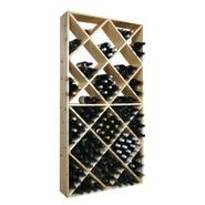 Country Pine Solid Bin Wine Rack - Holds 208 Bottl