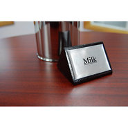 Milk Tabletop Wood Block Sign