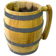 Oak Barrel Mug - 1 Liter