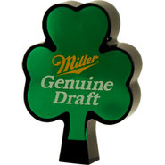 Miller Genuine Draft Light Acrylic Shamrock Beer T