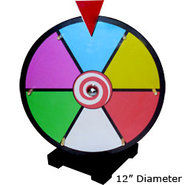 Dry Erase Tabletop Prize Wheel ? Colored Face