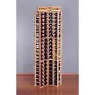 Country Pine Curved Corner Wine Rack - Holds 84 Bo